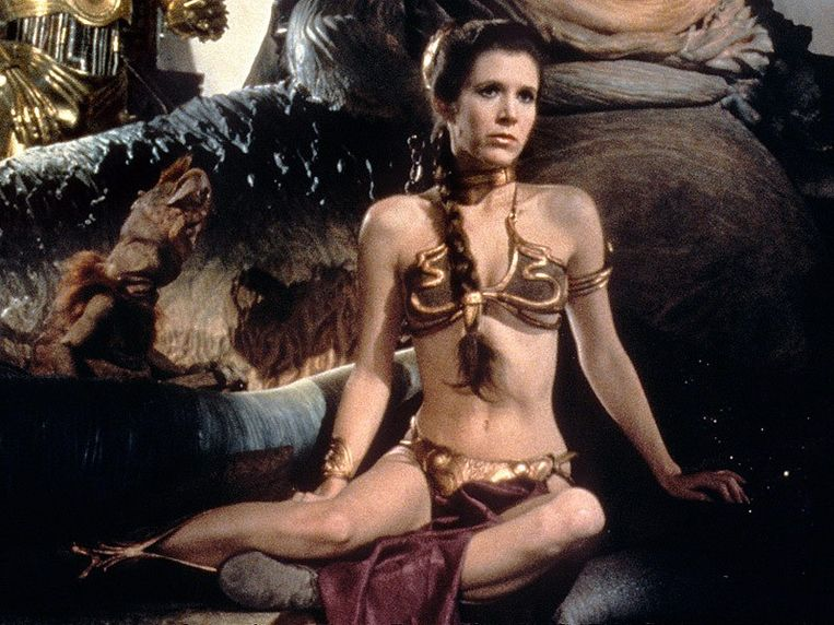 Carrie Fisher als prinses Leia
