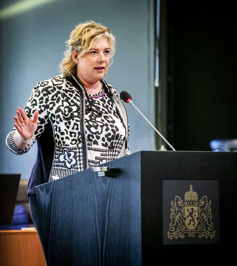 Ankie de Hoon, fractieleider van het CDA in de Provinciale Staten van Noord-Brabant, in oktober. Haar partij is uit de het college Gedeputeerde Staten gestapt na onenigheid in de coalitie over het te voeren stikstofbeleid. Beeld ANP