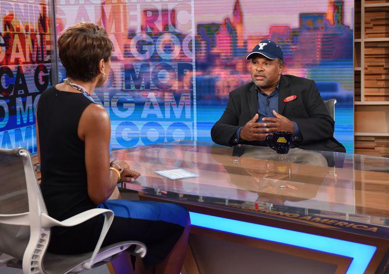 'The Cosby Show'-acteur Geoffrey Owens bij 'Good Morning America'. Beeld AP
