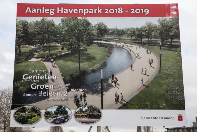 Ongeveer zo moet het Havenpark in Helmond eruit komen zien.