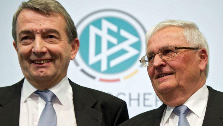 Wolfgang Niersbach (L) en Theo Zwanziger Beeld epa