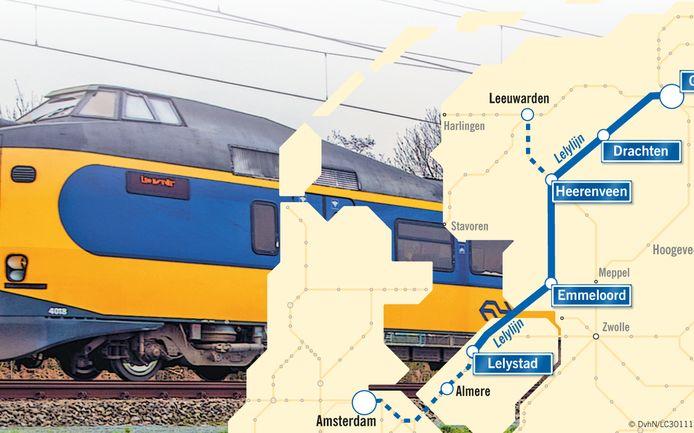 De Lelylijn moet het noorden van het land en de Randstad beter met elkaar verbinden.