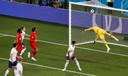 Adnan Januzaj (niet zichtbaar) scoort tegen Engeland.
