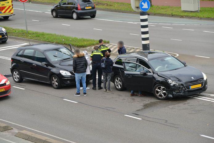 Ongeluk op de Ettensebaan in Breda.