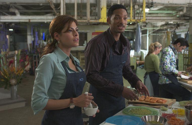 Will Smith en Eva Mendes in 'Hitch'