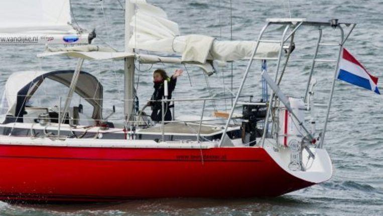 Laura Dekker vertrok vorige week vanuit Zeeland voor haar solozeiltocht rond de wereld. Foto ANP Beeld