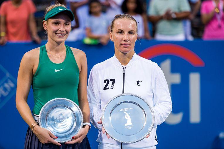 Kuznetsova (rechts) won van Vekic (links).
