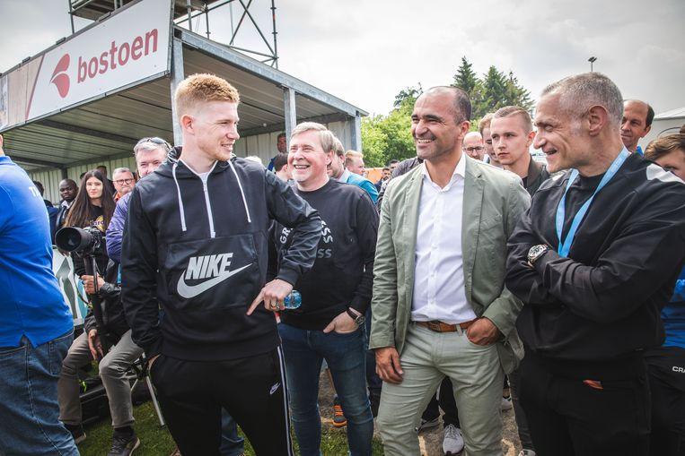 Kevin De Bruyne en Roberto Martinez op de KDB-Cup in Drongen