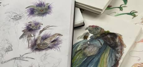 Iris Compiet doet waar ze vroeger niet van durfde dromen: ze tekent de dieren uit Thra