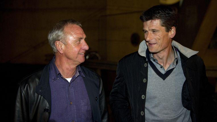 Johan Cruijff en Wim Jonk (R) Beeld anp