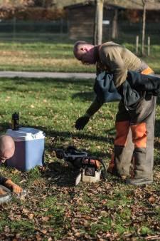 Motorzagen ronken voor opschonen Horsterpark in Duiven