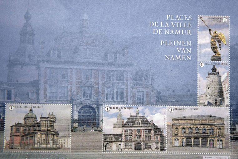De stad Namen kreeg vorig jaar wel de kans om zich te tonen met vijf verschillende afbeeldingen.
