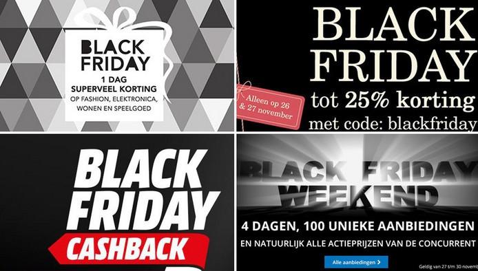 Steeds meer winkels in Nederland doen aan Black Friday.