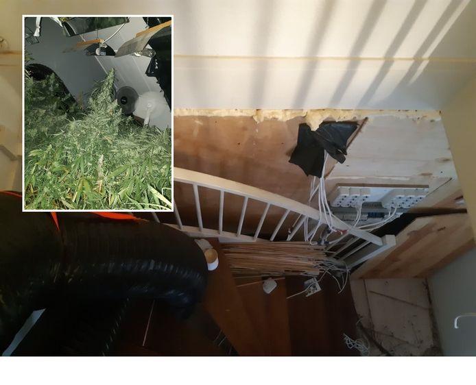 Flinke schade aan de woning. Inzet: de hennepkwekerij.