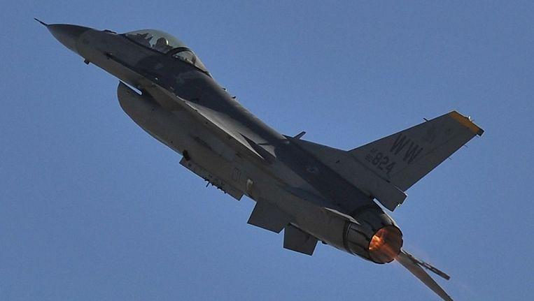 Een F-16. Beeld afp