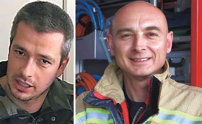 Chris Medo (42 ans, à droite) et Benni Smulders (37 ans, à gauche) ont perdu la vie dans un incendie à Beringen