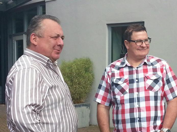 Frans van Oijen (l) en Hans van Woerkum zijn vanaf 1 september de nieuwe uitbaters van De Kentering in Rosmalen.