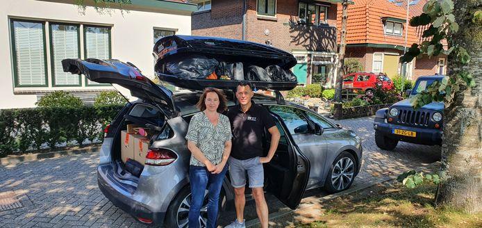 Sonja en Dennis Stenfert voor vertrek naar Slowakije