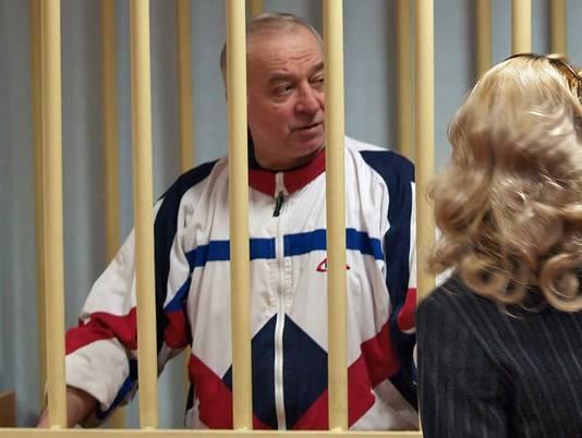 Sergei Skripal in een Russische rechtbank in 2006.
