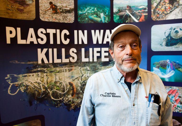 Ontdekker van de de Plastic Soep Charles Moore. Beeld Hollandse Hoogte / Michiel Wijnbergh
