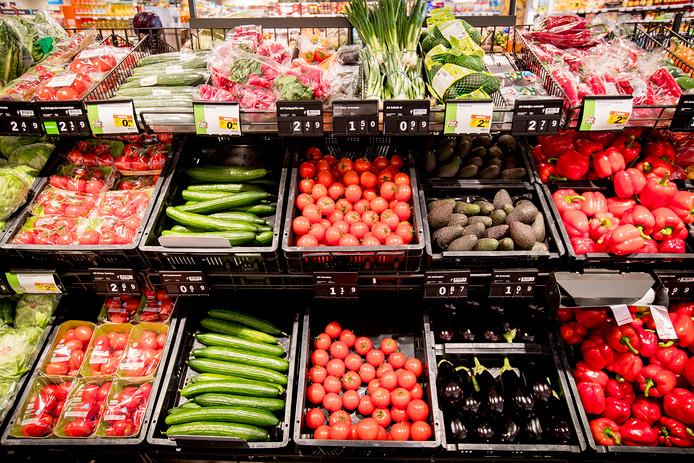 Verswaren in de supermarkt.