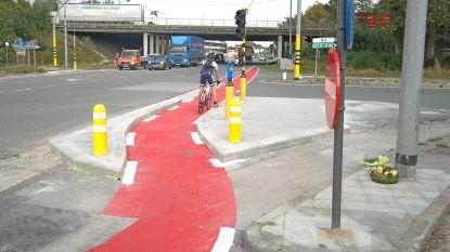Zwart kruispunt in Oostakker al iets veiliger gemaakt voor fietsers