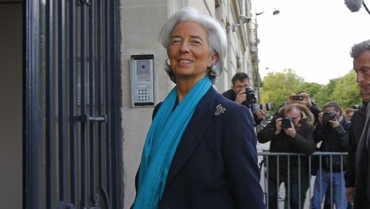 IMF-chef Christine Lagarde arriveert bij de rechtbank Beeld ap