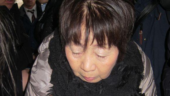Kakehi bij haar arrestatie.
