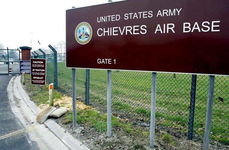 De militaire vliegbasis van de Amerikanen in Chièvres.