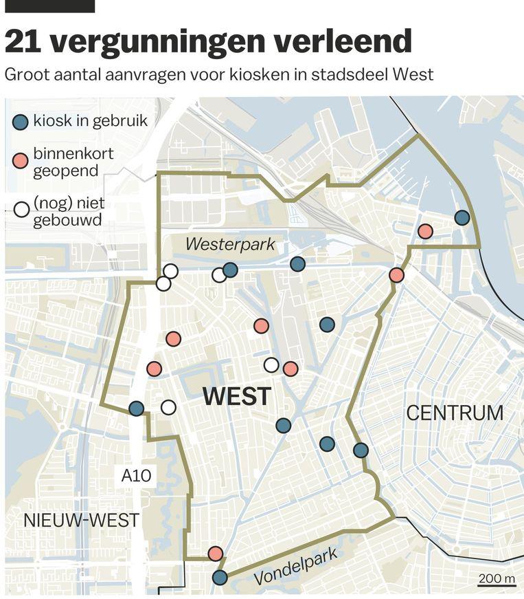 Kiosken in Amsterdam-West Beeld Laura van der Bijl