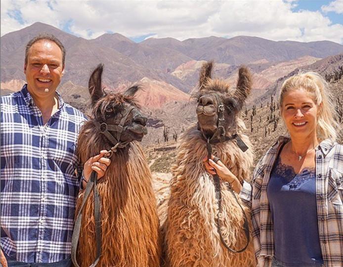 Frans en Mariska Bauer in Argentinië.