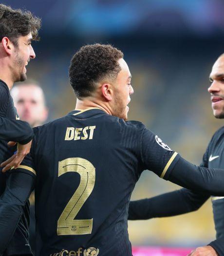 Eerste goal Dest helpt Barcelona naar volgende ronde, Juventus pas in blessuretijd langs Ferencvaros