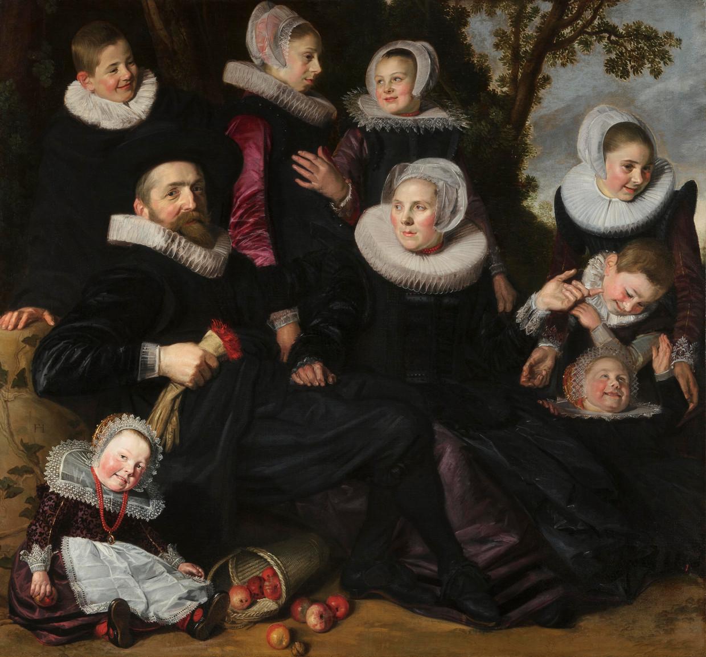De familie Van Campen in een landschap, ca. 1623-1625 Beeld