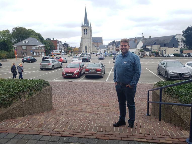 Schepen van Mobiliteit Marlon Pareijn (CD&V) in het centrum van Geel.