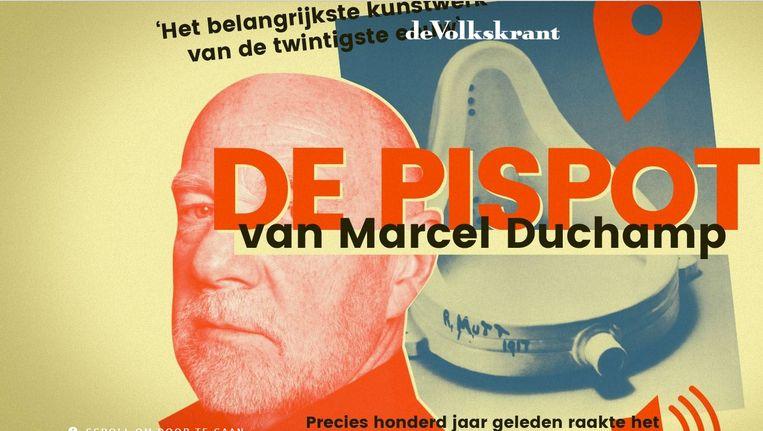 Het audioverhaal over de pispot van Duchamp. Beeld