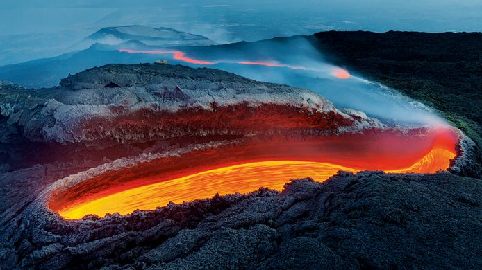 Etna's river of fire by Luciano Gaudenzio, Italy
