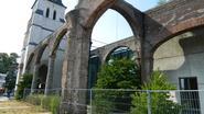 Oud kerkdeel ook na restauratie nog ruïne