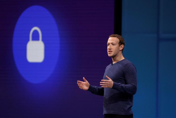 Facebook-CEO Mark Zuckerberg op een conferentie, begin mei