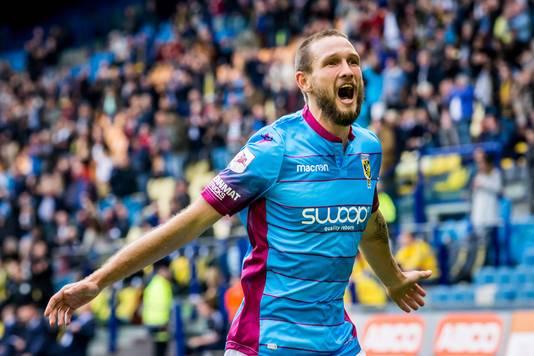 Tim Matavz, eerder dit seizoen na zijn treffer tegen VVV.