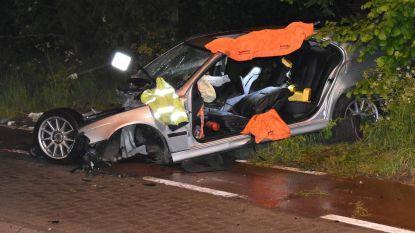 VIDEO: Wagen knalt tegen boom: twee inzittenden levensgevaarlijk gewond