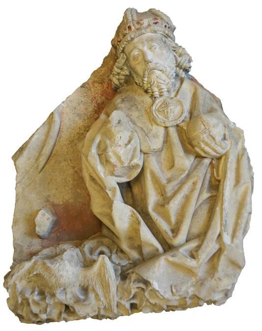 Het unieke godsbeeld dat werd gevonden in de Sint Walburgiskerk in Zutphen.