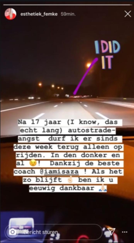Femke a annoncé la bonne nouvelle sur son compte Instagram.