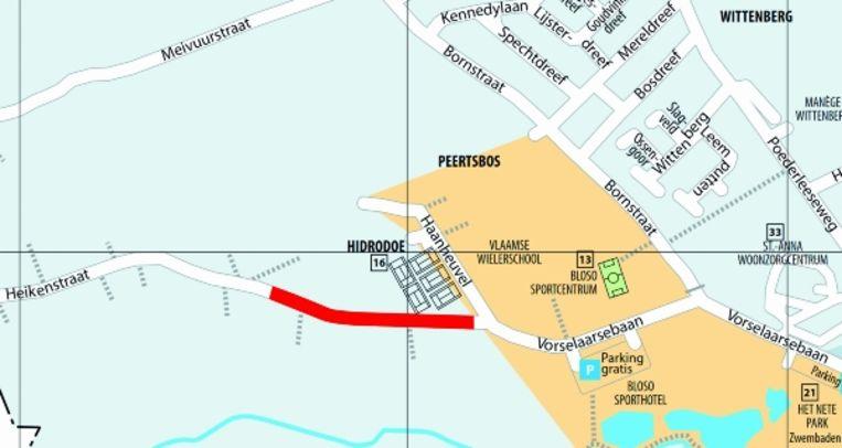 De Heikenstraat is van 1 tot 5 juli onderbroken.