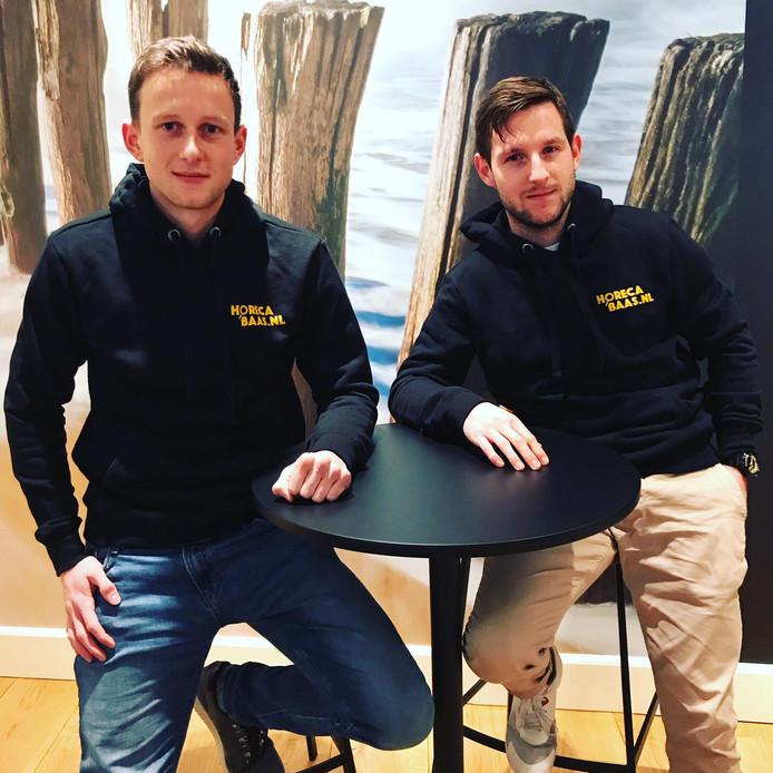 Jordi Dooge (links) en Ruben de Putter zijn twee van de vier drijvende krachten achter horecabaas.nl, een banenmarkt voor de Zeeuwse horeca.