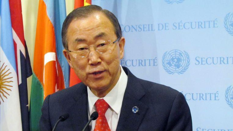 Ban Ki-Moon heeft nog niet gereageerd. Beeld epa