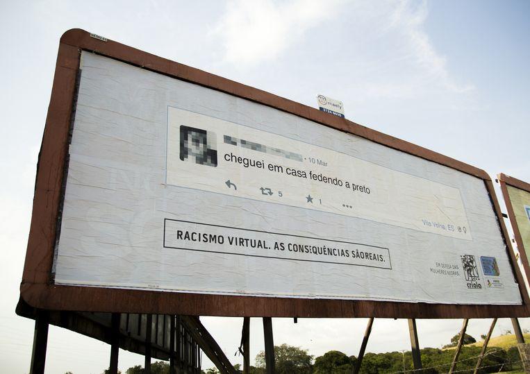 'Ik kwam thuis, ruikend naar zwarte mensen.' Beeld Racismovirtual.com.br