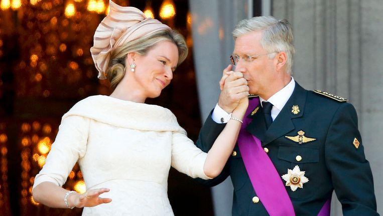 De nieuwe koning en koningin van België. Beeld reuters