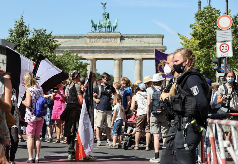 Protest aan de Brandenburgse Poort.