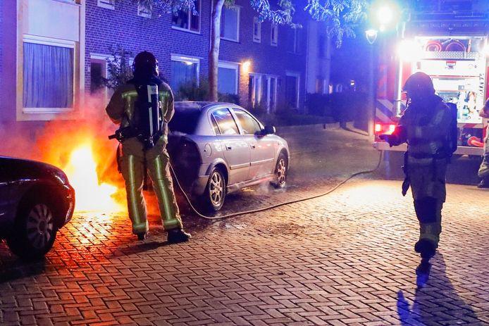 Autobrand Princessenlaan Eindhoven.