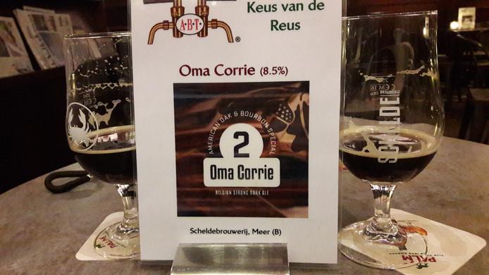 Oma Corrie bier.